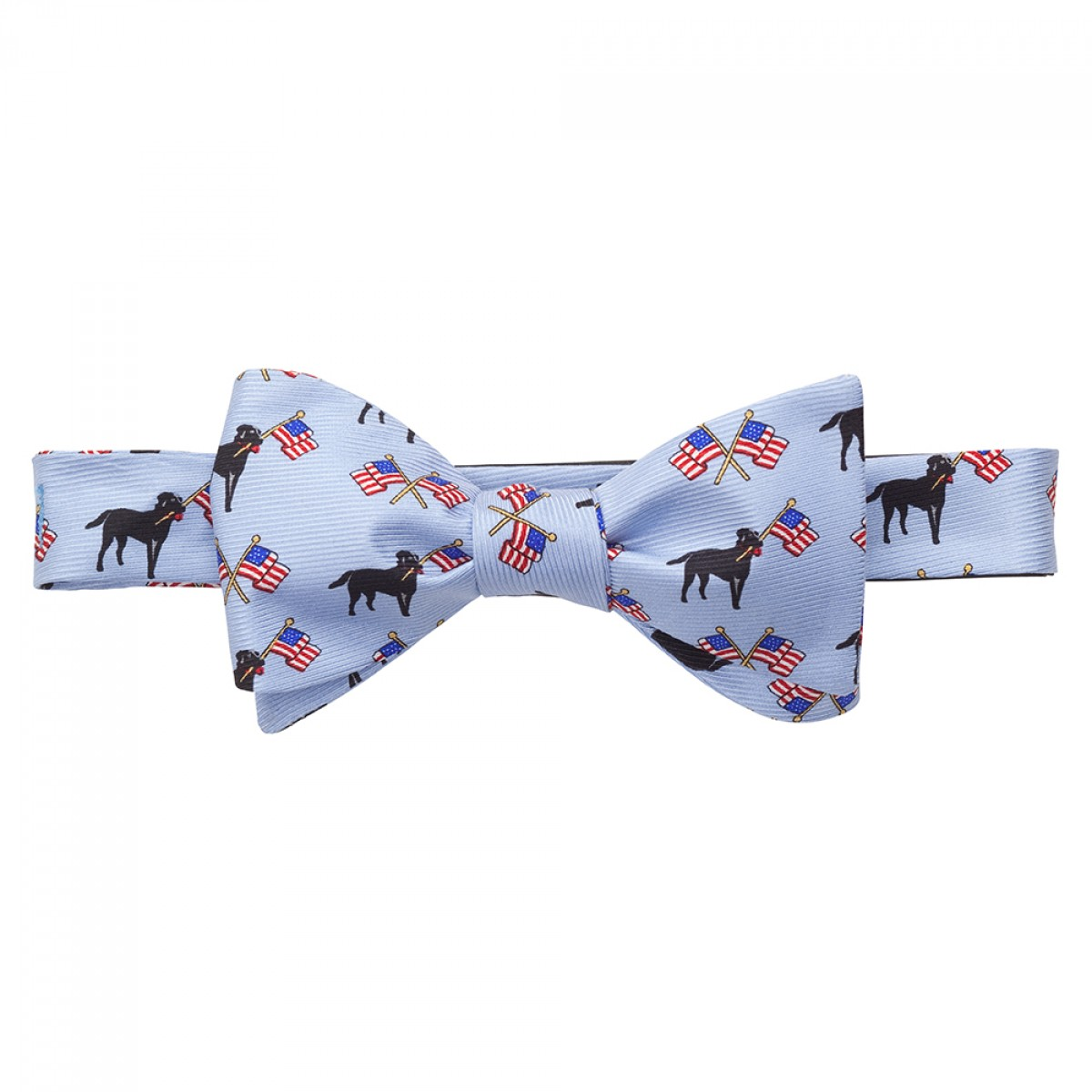 Labs & Flags Bow - Lt. Blue